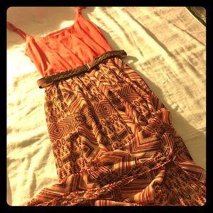 NWOT As U Wish Belted Maxi Dress